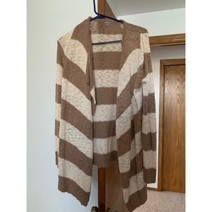 Cream and Tan (light brown) cardigan